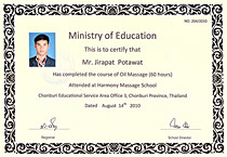 my thai massage license